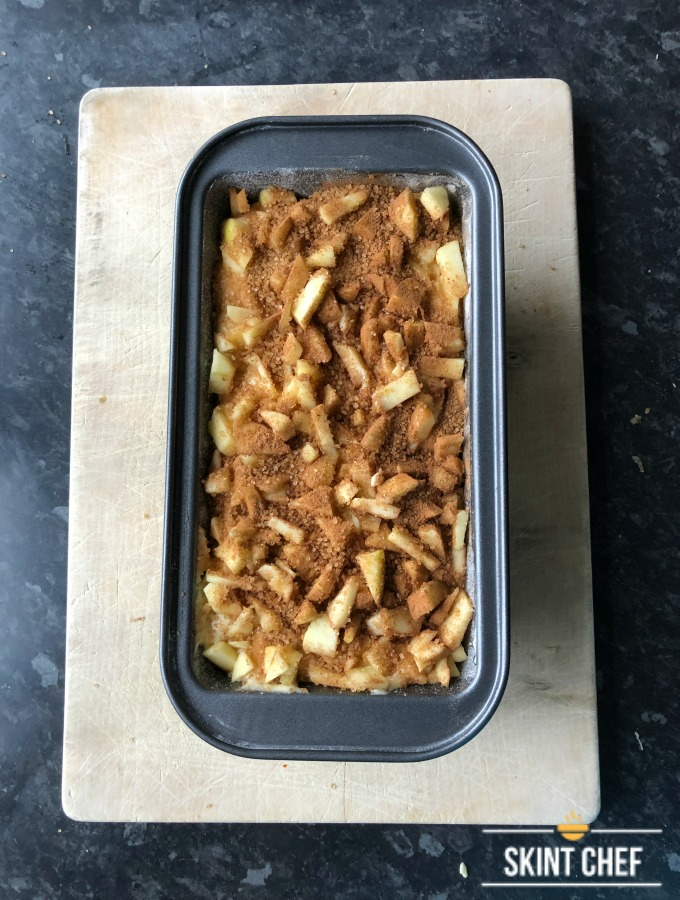 apple and cinnamon loaf before cooking