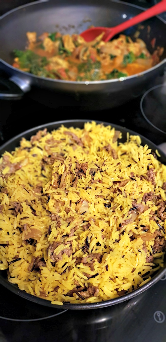 cooking easy keema rice