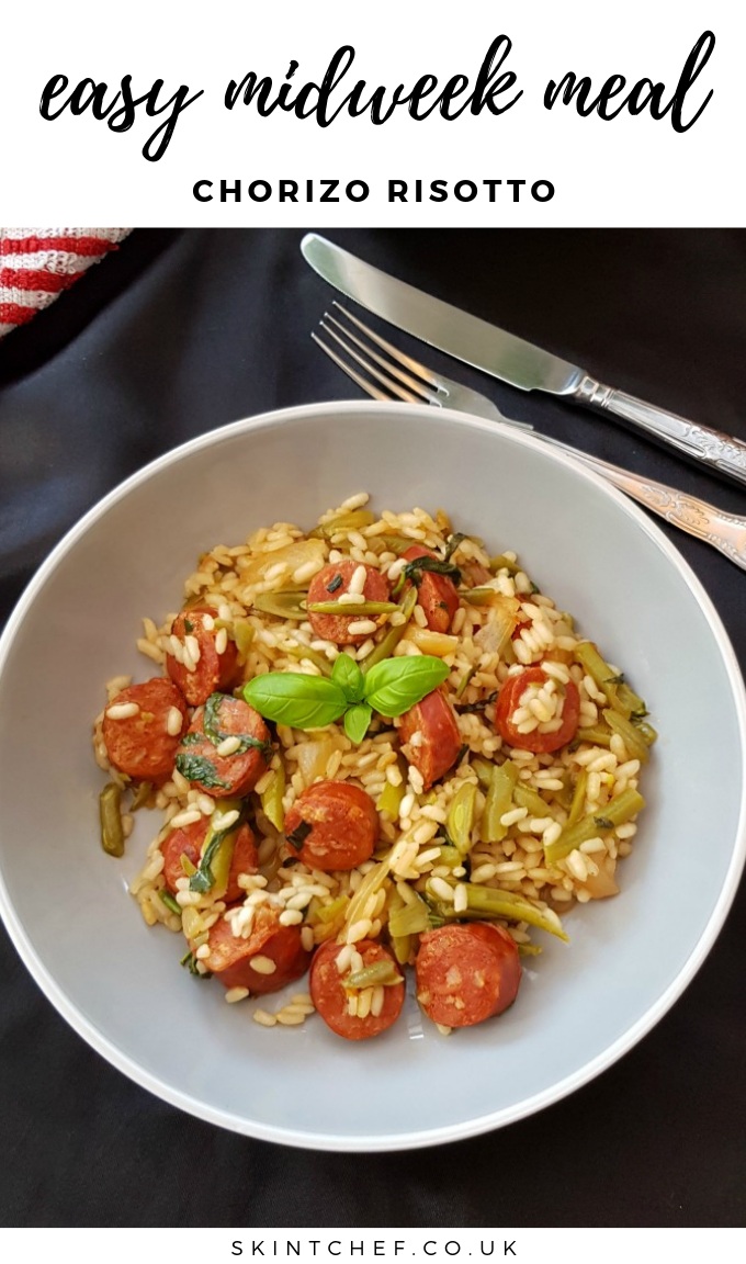 You'll want to make this Chorizo Risotto recipe time and time again for an easy midweek meal! It's a big bowl of comfort food!