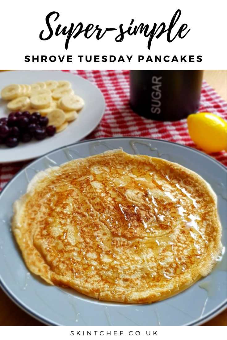 An easy pancake batter recipe that will make perfect Shrove Tuesday pancakes every time (although are great any time of the year!).