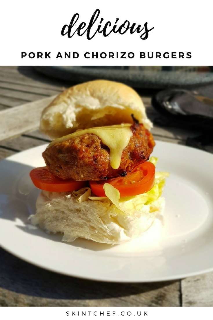 Not your average burger! These Pork and Chorizo Burgers are a must have for the BBQ and are delicious, with the Chorizo adding so much flavour.