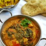 Our Chicken Saag Recipe is not too spicy but has delicious flavours. The chicken and spinach curry is a perfect healthy midweek meal.