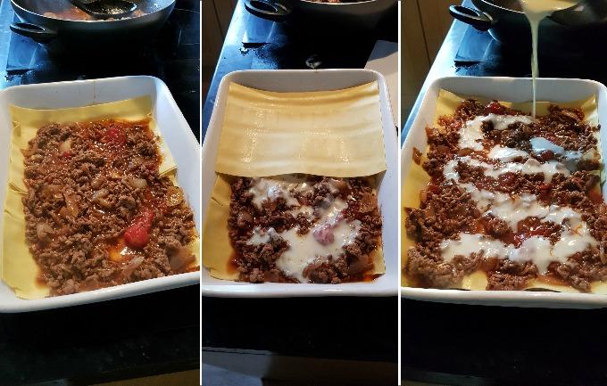 layering a lasagne