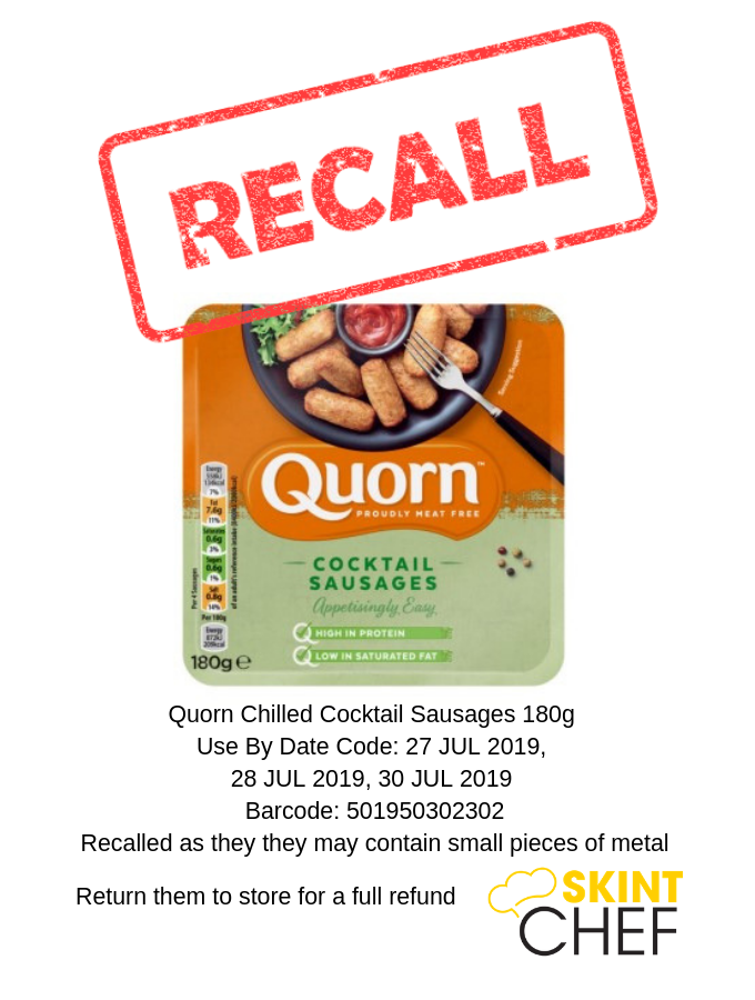 Quorn Cocktail Sausages recalled