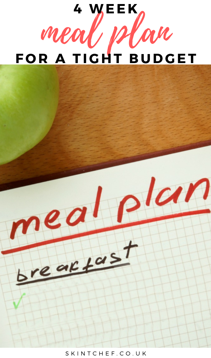 month budget meal plan