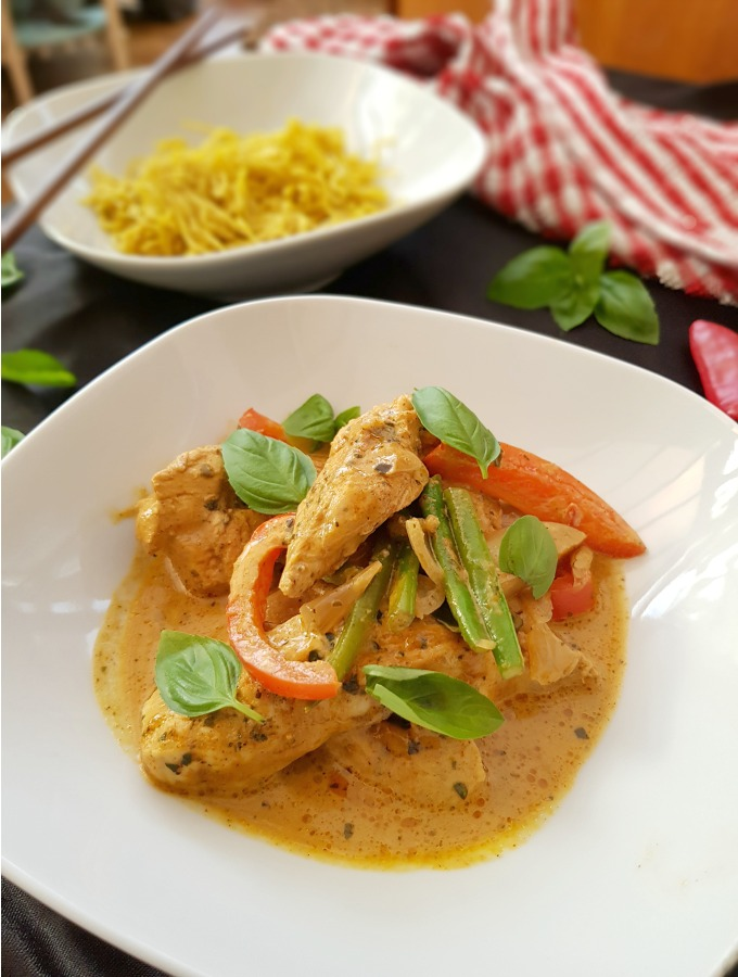 red thai chicken curry recipe