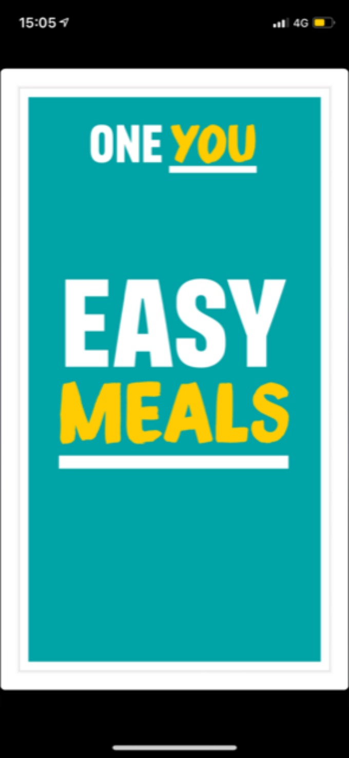 one you easy meals app
