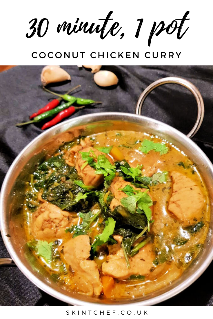 30 minute coconut chicken curry