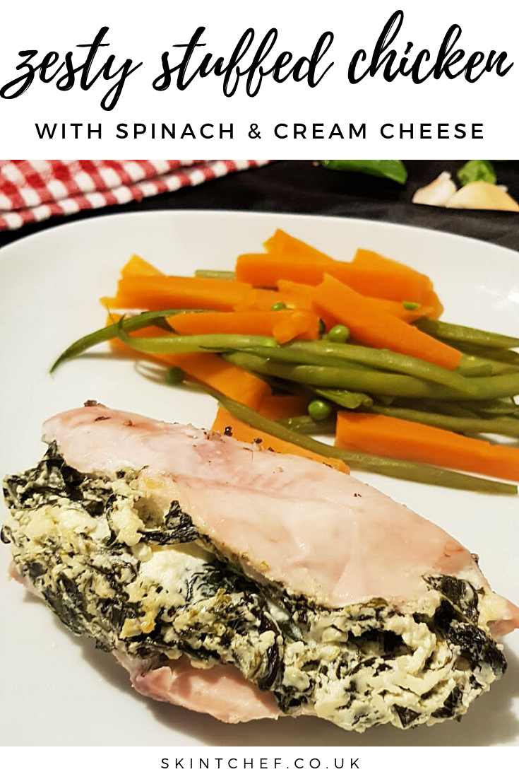 Zesty Chicken stuffed with spinach