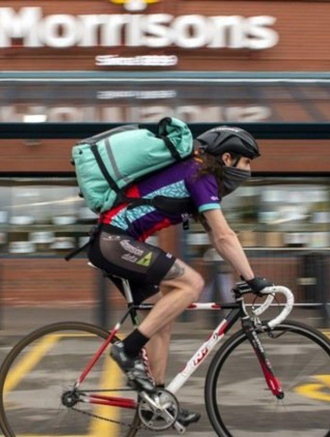 deliveroo on a bike